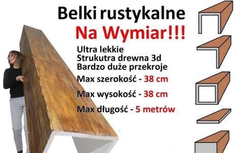 Belki rustykalne Na Wymiar, imitacja drewna