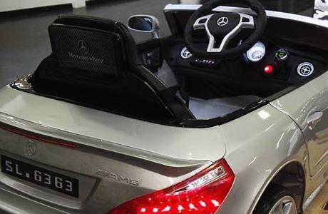 Mercedes SL 63 na akumulator VIP skóra, ksenon, miękkie koła, jak prawdziwy