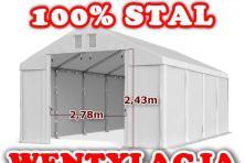 6x8m Pawilon HANDLOWY przemysłowy MAGAZYNOWY garażowy LAKIERNICZY pvc