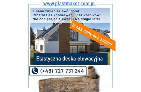 Elastyczna deska elewacyjna PlasterTynk - zestaw próbek GRATIS  imitacja deski elewacyjnej