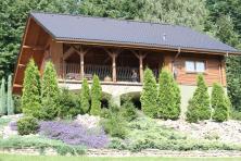 Dom z bali Leszna Górna