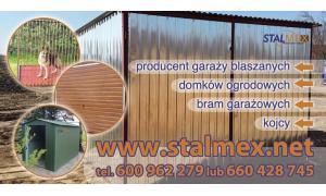 Garaże blaszane, bramy garażowe,domki ogrodowe PRODUCENT!!!