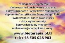 Zabiegi Bioenergoterapia świecowanie konchowanie uszu Japońska bioenergoterapia Reiki masaż i terapi
