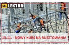 Szkolenia na rusztowania budowlane - 13.11.2018. !!!