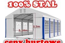 5x8m Namiot WZMOCNIONY handlowy PAWILON ogrodowy WESELNY imprezowy