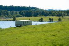 Domek nad wodą na Mazurach