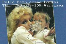 Folie bezpieczne i antywłamaniowe Warszawa -Oklejanie szyb - HACCP Folkos