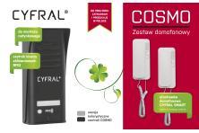 Zestaw domofonowy dla domów jednorodzinnych CYFRAL COSMO